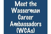 Meet the Career Ambassadors / Career Ambassadors are NYU Wasserman's undergraduate peer educators on campus who help support and promote the mission of The Wasserman Center for Career Development.