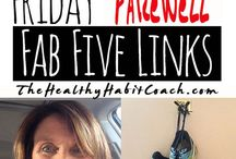 Friday Favorite Fab Five Links via the Healthy Habit Coach / Friday Favorite Fab Five are the week's picks for great links on food, health, music and laughter via The Healthy Habit Coach blog - http://www.thehealthyhabitcoach.com/blog