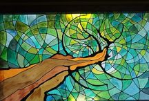 Stained Glass / Just love color as it dances with sunshine