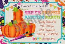 Pumpkin decorating party / Throw a fun party this fall where you decorate pumpkins!!