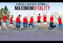 Maximum Vitality - Michigan / Here are some of the resources and links I shared from Shannon Hudson's Maximum Vitality Event in Michigan Oct 1-3 2015