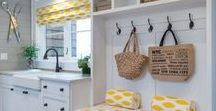 Laundry Room Inspiration / Once the dullest room in the house, the laundry room has been treated to a makeover. It makes sense, no-one really wants to do laundry, but if you have to, you may as well do it in a nice environment. Home decor ideas for your washing and drying room.