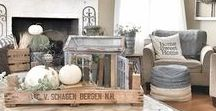 Interiors | Rustic / Rustic style is another popular interior design trend. It's a bit more rough and ready than its cousin, farmhouse decor. Common themes are rough wood, galvanized steel and other metals and a nod towards more industrial times. Greenery and plants are often used to give it a softer look.