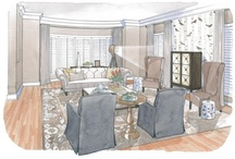 """House Calls / I was given the opportunity to help an Alexandria couple take their """"blank slate"""" living room to a place  for relaxation and entertaining.  The Design Concept:  Create a visual invitation into the space through casual furniture arrangement and fun pattern selection while at the same time form a sophisticated first impression of the home. http://www.washingtonpost.com/lifestyle/home/redecorating-a-living-room-with-informality/2013/02/26/ae10dd18-77b8-11e2-95e4-6148e45d7adb_story.html"""