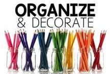 Organize and Decorate / This board is packed full of classroom organization and classroom decoration ideas! These pins are perfect for grades K-6!