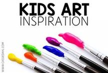 Kids Art Inspiration / Ideas and inspiration for kids art. Get out the paint, markers and paper!!