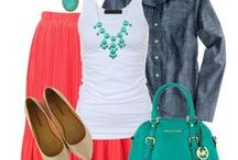 Color Trends 'Summer Breeze' / blue aqua turquoise mint coral sand cream / by Angel Hartline