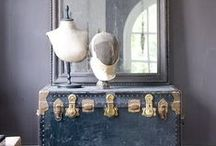 DECORATE WITH: OLD TRUNKS / Old trunks used in interior design and decor / by Mr. Kate