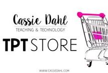 Cassie Dahl: TpT Store Catalog / These are pins for freebies and products that you can find in my Teachers Pay Teachers Store.