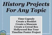 Projects and Activities for ANY History Topic / Resources from Stephanie's History Store that can be used for any history topic/person/unit from 6th-12th grade.