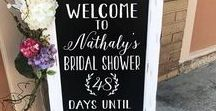 Weddings | Bridal Shower / Planning a Bridal Shower? This board is full of awesome ideas to make the wedding shower crazy fun! Brides will love it! Games, Food, Drinks and so much more Bridal Shower fun!
