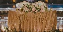 Weddings | Sweetheart Table / Nothing is more romantic than a Sweetheart Table at a Wedding. An awesome Head Table alternative! Let your Wedding Party sit with their dates.