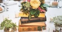 Wedding Themes | Literature / If you are a book worm this is the wedding theme for you! Base your wedding theme on your interests and use those types of books to create a unique and personal wedding day | Literature & Books, Vintage, DIY, Unique