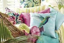 Escape: Tropical / Tropical decor. Whimsical to sophisticated.