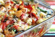 C - Casseroles - pork, cheese, veggies - recipes / by Denise Temple