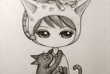 Marilias - Skitsa Drawing