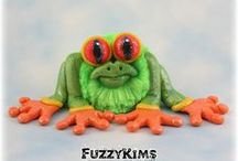 FuzzyKim Animals / Cute Collectible Whimsical Polymer Clay FuzzyKims that come in a handmade gift box along with an adoption certificate. These are available on my website. Visit my website at: http://www.kimmiesclaykreations.com  FuzzyKims©, are COPYRIGHTED by Kimmie's Clay Kreations®, 2017. All images, rights, colors, designs, concept, and intellectual property belong solely to the owner of Kimmie's Clay Kreations.