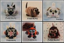 FuzzyKims Fun Collage and Group Pictures / Cute Collectible Whimsical Polymer Clay FuzzyKims that come in a handmade gift box along with an adoption certificate. These are available on my website.  Visit my website at: http://www.kimmiesclaykreations.com  FuzzyKims©, are COPYRIGHTED by Kimmie's Clay Kreations®, 2017. All images, rights, colors, designs, concept, and intellectual property belong solely to the owner of Kimmie's Clay Kreations.