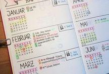 Bullet journal -planning annuel et calendex