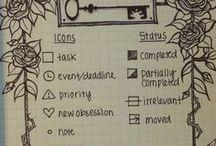 Bullet Journal - clés / keys