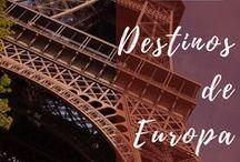 Destinos de viaje en Europa   Europe Trips / Viajes a Europa, mochileros, viajar, consejos para viajar a Europa, viajar por tu cuenta, viajar por libre, restaurantes, itinerarios, precios, comidas, transporte en Europa. #Europa #viajes #mochileros
