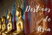 Destinos de Asia / Viajar por libre, itinerarios en Asia, Tailandia, India, Laos, Camboya, consejos, tips de viaje, rutas, gastronomía, precios, mochileros, transporte, alojamientos. #viajes #Asia #caracolviajero