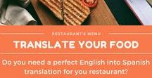 Translator - English > Spanish Translations / Do you need an English into Spanish translator for your business? Are you looking for a specialized food industry translator? Contact me now! #translator #traductor #spanish #food