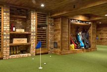 Golf Inspired Man Cave