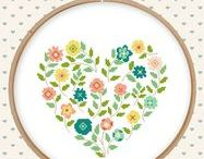 Hearts in xstitch
