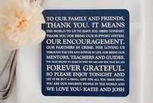 {wedding thanks for coming + favours + guest book}
