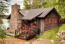 The Someday Cabin / The hubs and I have a dream to have a vacation cabin tucked away in the woods (basically, it's one of our main goals to living debt-free and keeping finances in order).  It will be ours. Oh, yes, it will be ours.