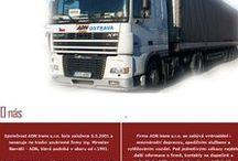 ADN trans s.r.o. / Firma ADN trans s.r.o. se zabývá vnitrostátní i mezinárodní dopravou, spedičními službami a vytěžováním vozidel. Pod jednotlivými odkazy najdete další informace o firmě, kontakty na dispečink a jednotlivá oddělení, podrobnosti o umístění sídla firmy včetně mapky. Služby Vám poskytneme více než 40-ti vlastními vozy, převážně značky Renault, DAF a rovněž vozidly partnerských firem. www.adn.cz