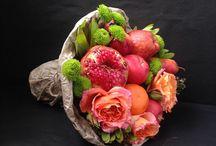 Букеты из фруктов, овощей и цветов! / Авторские букеты из фруктов, овощей и цветов.