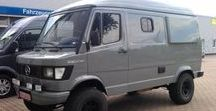 CamperVan / Collecting inspirations for my future project. Body Mercedes T1-307-310+swapped 2,9td engine. Axles and transfer box: patrol y61, g-class but I think it will end with UAZ portal axles with YA192 tyres.