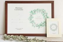 結婚証明書 / #paper item #ペーパーアイテム #magritte designs #ウェディング #ウェディングツリー #結婚証明書 #marriage certificate #weddingtree #wedding #tree