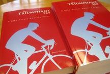 "Under a Triumphant Sky / ""Under a Triumphant Sky"" is a memoir about my first bike across America trip in 2008. This is my first book. Do you like the bright red cover? :) / by Steve Garufi"