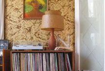 / audio visual  \ / really rad record {storage} and rumpus rooms.