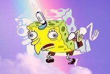 Spongeboob / who lives in pineapple under the sea?