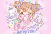 cute dreams & fancy surprise / super cute and lovely ,fancy surprise ,dreams ,baby bedroom , anime ,girls & sugar devil
