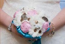 Nuestras novias / Las fotos de las novias con ls que trabajamos:  Hand-Designed fabric wedding bouquet http://www.lolitasfieltro.com/wordpress/?page_id=26