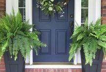 For the Home- Front Exterior / Front door, front patio, front step, decor, ideas, design, landscaping