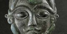 Celtic statue heads/busts