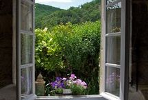 A room with a view / Windows with a lovely view.