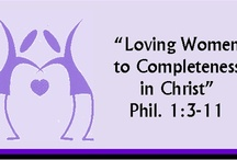 † Women's Ministry † / Meeting the needs of women in the Christian church. Empowering women ~ to know Christ, to know who they are in Christ, to grow as leaders and mentors who disciple others, to act by giving their talents, money and time to be the light of the world, to realize they are valued in God's kingdom,  to unite and share to strengthen their families and to be God's hands in the world!