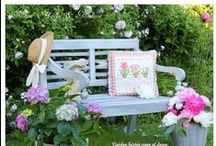 Come sit with me in the garden / ...and let's have some tea, and talk a bit, or just ponder, or read a book.