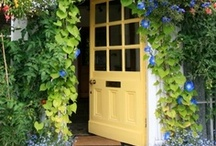 Welcome / Romantic front doors, porches and entrances
