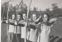 Mohos on target / Archery at Mount Holyoke College.  Images thanks to the Archives and Special Collections.