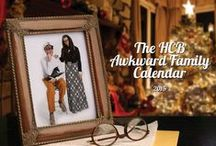 The HCB Awkward Family Calendar / Instead of a holiday card, this year we gave our beloved clients a gift that would keep on giving all year long. Behold the HCB Awkward Family Calendar photos . . . if you dare.