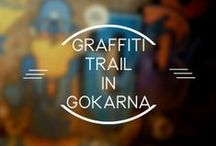 Graffitti Trail in Gokarna / Before starting the blog post I would like to salute all the graffiti artists all over the world. Here's a definition of graffiti from our side Graffiti : Draw what you love <3 It takes great deal of patience and dedication to complete a masterpiece. Starting up with great zeal is one thing & to finish off in style is another.