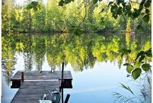 Finnish summer / Many Finns have a summer place, a cottage by the lake where they go to spend their vacation and free time with friends' family or relatives, enjoying the pure nature and the sauna, both fishing and swimming on their own beach.